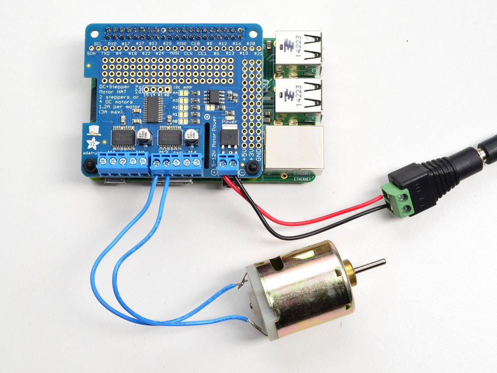 Adafruit Dc Motor Hat For Raspberry Pi Gizmo Workshop Wiring A Installing Software